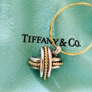 Tiffany & Co X pendant 925 750marked generic chain